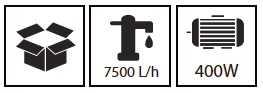 משאבה טבולה למים נקיים 400W מבית HUNTER האנטר - תמונה 2