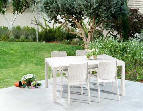 מערכת ישיבה מלודי שולחן עם 6 כסאות באלי MELODY SET לבן 231170 - תמונה 2