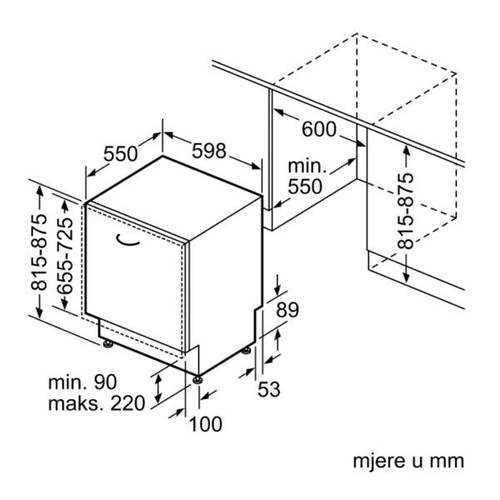 מדיח כלים אינטגרלי מלא Bosch SMV4ECX26E בוש - תמונה 9