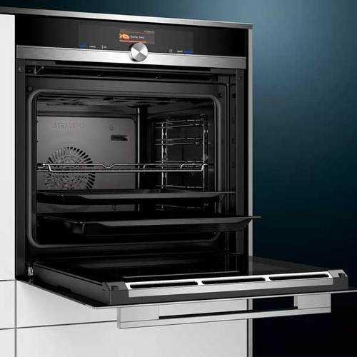 תנור בנוי שחור 71 ליטר 4D טורבו Siemens HB636GBS1 סימנס - תמונה 2