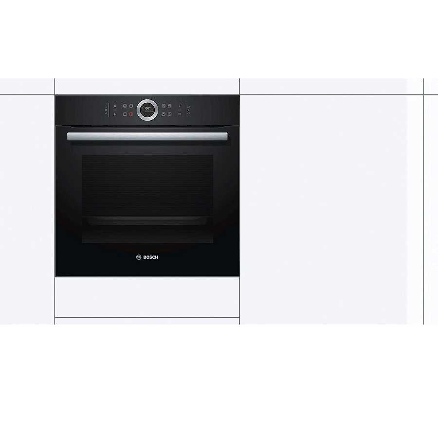 תנור בנוי פירוליטי שחור 71 ליטר Bosch HBG675BB1 בוש - תמונה 3