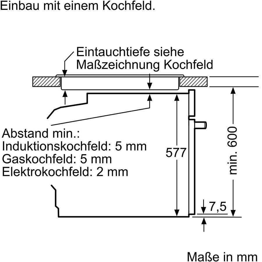תנור בנוי פירוליטי שחור 71 ליטר Bosch HBG675BB1 בוש - תמונה 6