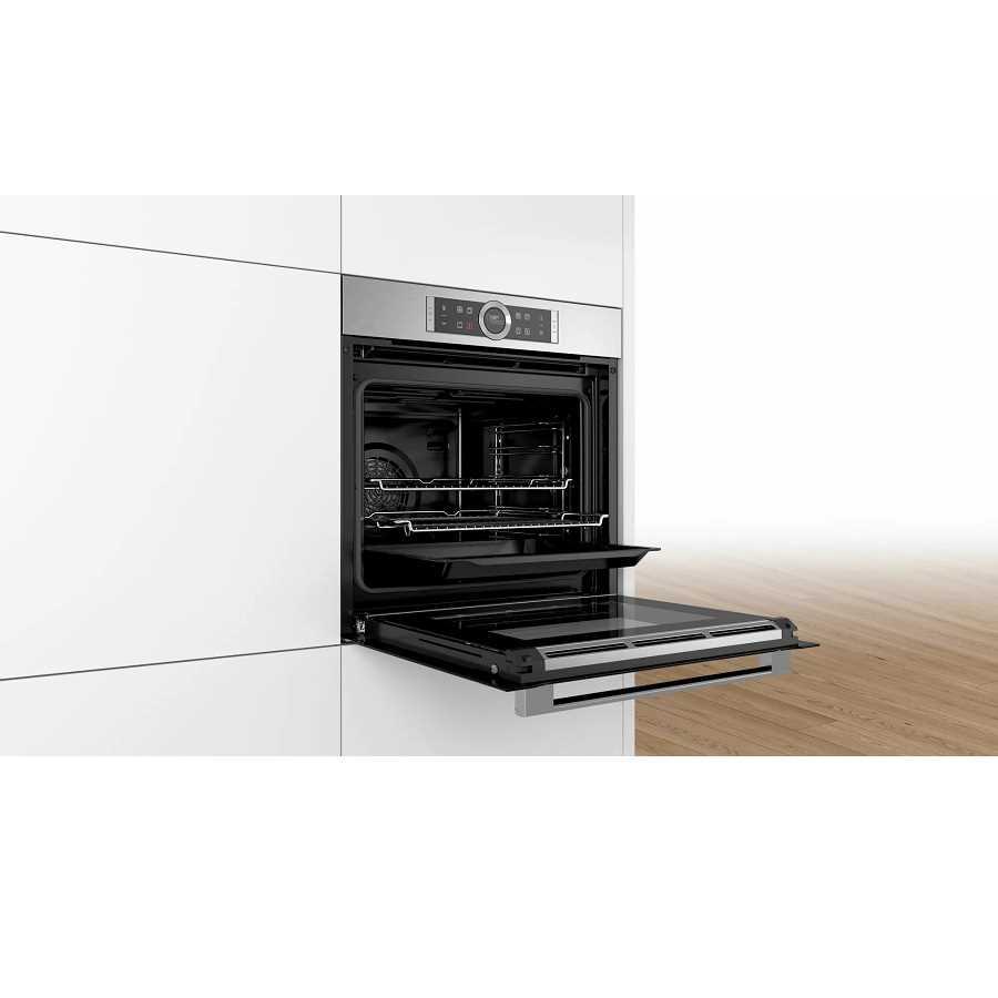 תנור בנוי פירוליטי נירוסטה 71 ליטר Bosch HBG675BS2 בוש - תמונה 2