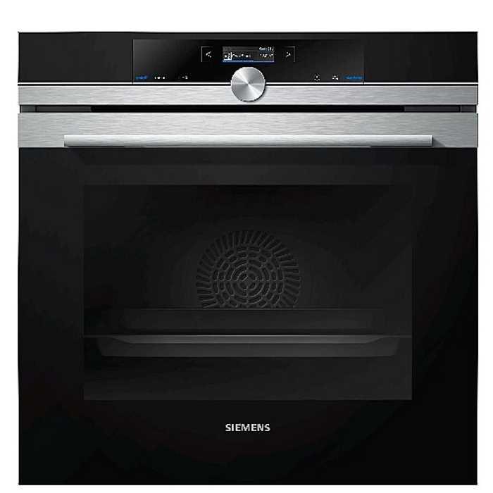 תנור בנוי 71 ליטר פירוליטי שחור נירוסטה Siemens HB675G0S1 סימנס - תמונה 1