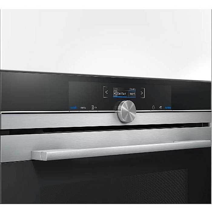 תנור בנוי 71 ליטר פירוליטי שחור נירוסטה Siemens HB675G0S1 סימנס - תמונה 3