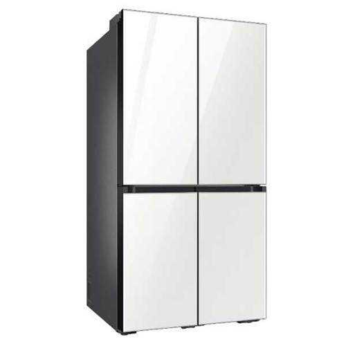 מקרר 4 דלתות 636 ליטר זכוכית לבנה Samsung RF70T9113WH סמסונג - תמונה 1