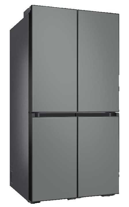 מקרר 4 דלתות 860 ליטר זכוכית אפורה Samsung RF90T9013GR סמסונג - תמונה 1