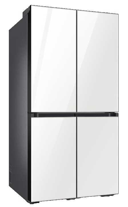 מקרר 4 דלתות 860 ליטר זכוכית לבנה Samsung RF90T9013WH סמסונג - תמונה 1