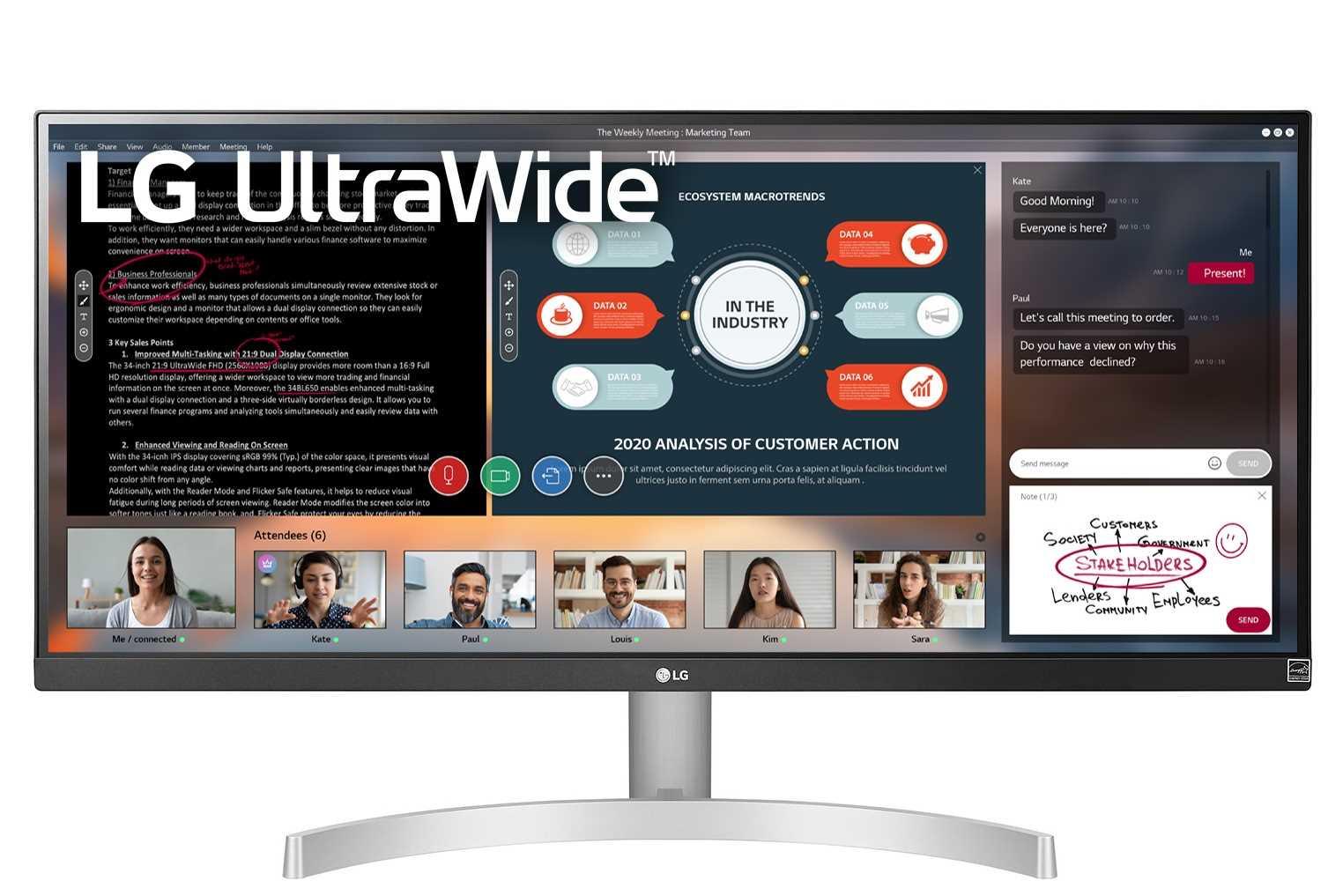 מסך מחשב מקצועי 29 אינטש LG 29WN600W אל ג'י - תמונה 1
