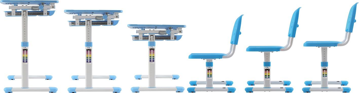 שולחן וכסא מתכווננים לילדים בגיל הגן צבע כחול BIG BOSS B210 - תמונה 6