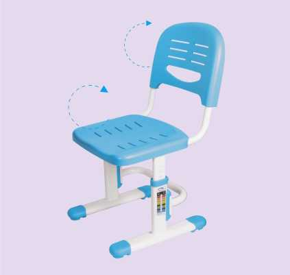 שולחן וכסא מתכווננים לילדים בגיל הגן צבע כחול BIG BOSS B210 - תמונה 9