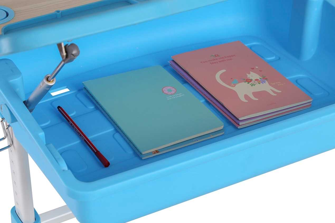 שולחן וכסא מתכווננים לילדים בגיל בית הספר צבע כחול BIG BOSS C360 - תמונה 4