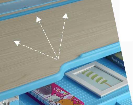 שולחן וכסא מתכווננים לילדים בגיל בית הספר צבע כחול BIG BOSS C360 - תמונה 7