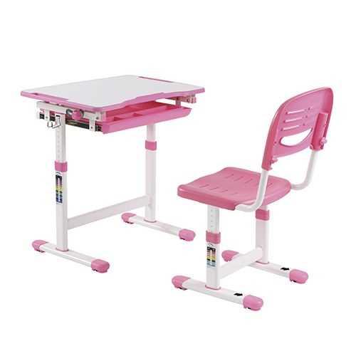 שולחן וכסא מתכווננים לילדים בגיל הגן צבע ורוד BIG BOSS B210 - תמונה 1