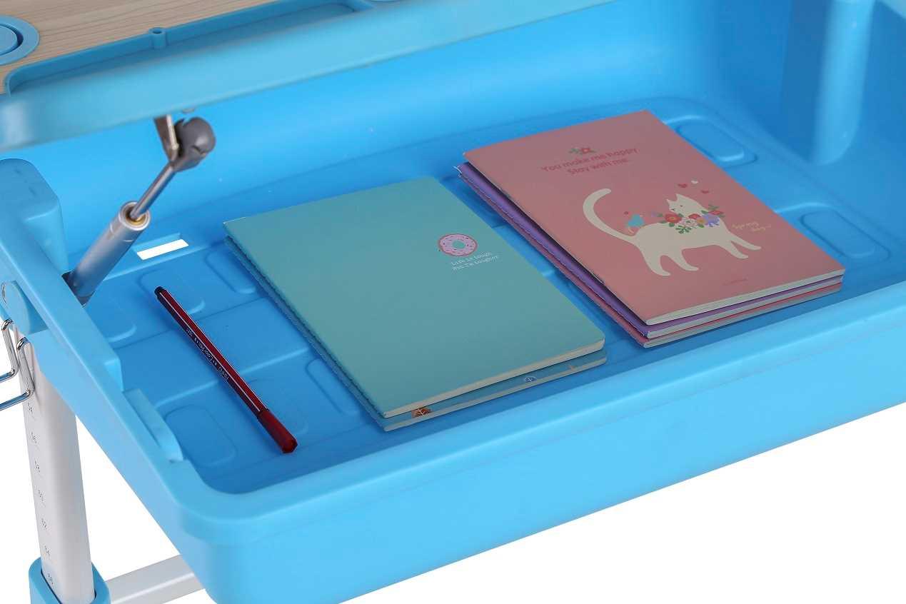 שולחן וכסא מתכווננים לילדים בגיל בית הספר צבע ורוד BIG BOSS C360 - תמונה 4