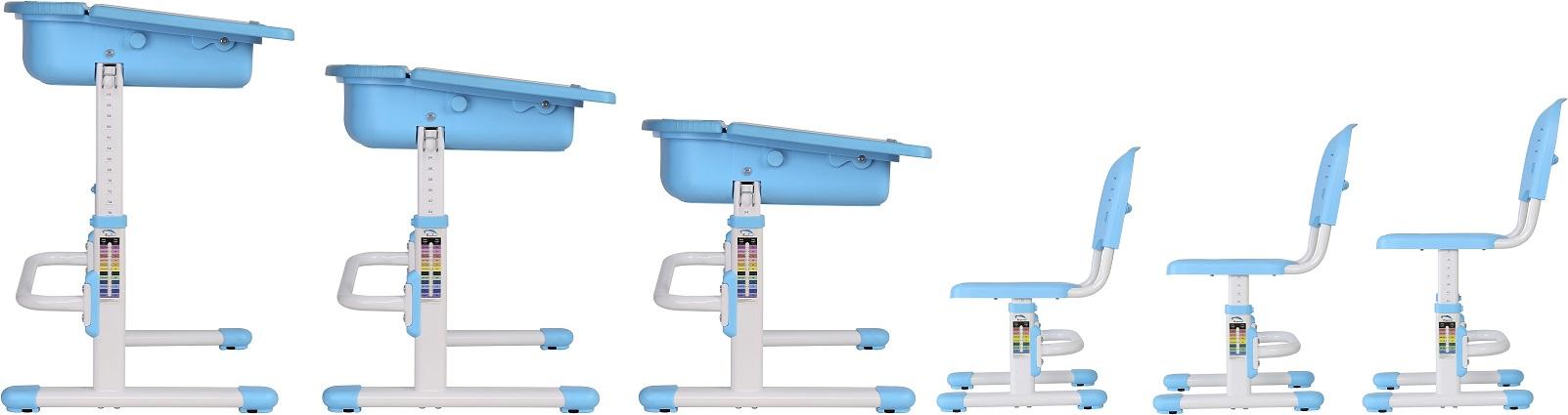 שולחן וכסא מתכווננים לילדים בגיל בית הספר צבע ורוד BIG BOSS C360 - תמונה 5
