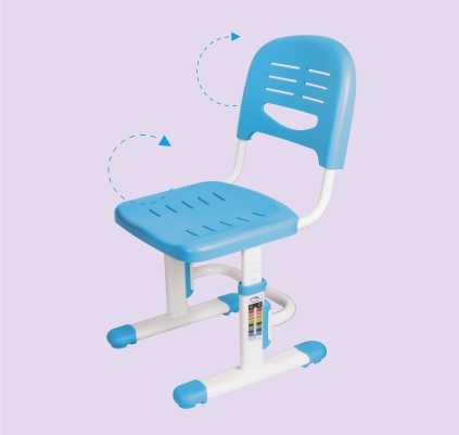 שולחן וכסא מתכווננים לילדים בגיל בית הספר צבע ורוד BIG BOSS C360 - תמונה 8