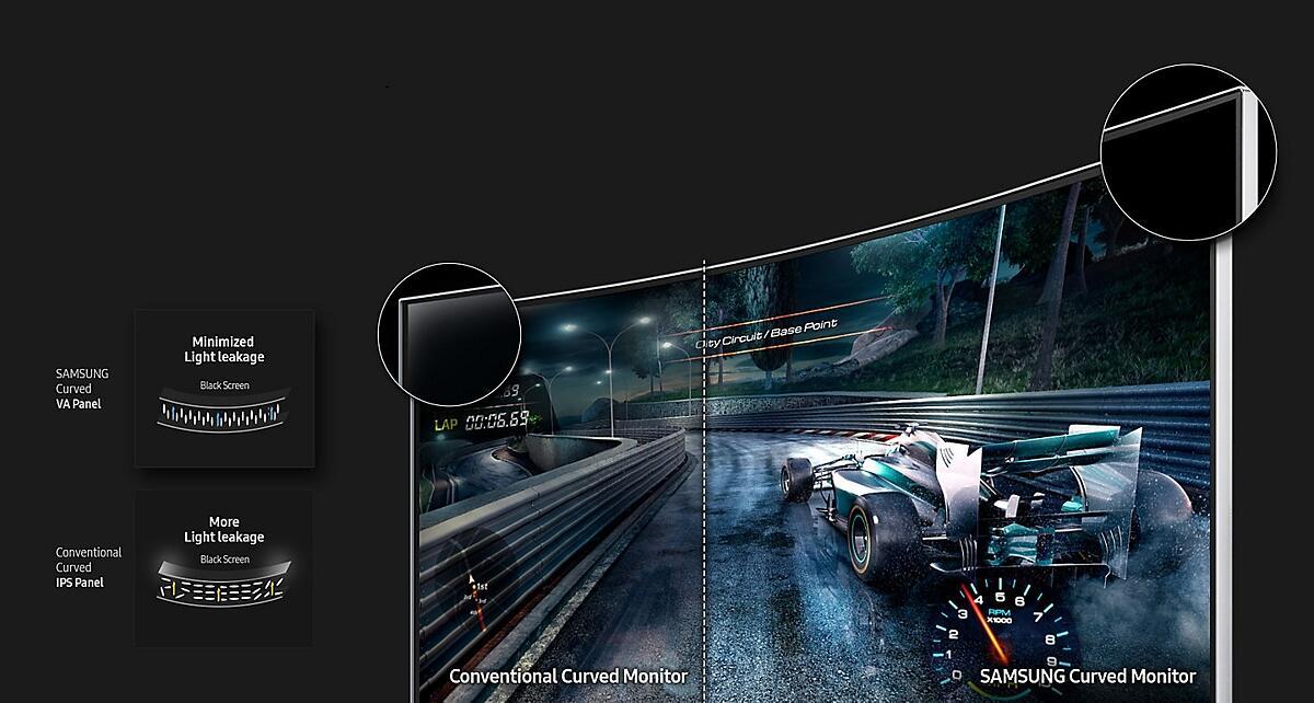 מסך מחשב 24 אינטש Samsung C24F390FH סמסונג - תמונה 4