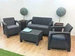 מערכת ישיבה קורפו סטורג' (כולל שולחן אחסון) - Corfu Storage Lounge Set אפור 248014 - תמונה 3