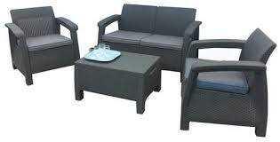 מערכת ישיבה קורפו סטורג' (כולל שולחן אחסון) - Corfu Storage Lounge Set אפור 248014 - תמונה 1