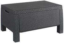 מערכת ישיבה קורפו סטורג' (כולל שולחן אחסון) - Corfu Storage Lounge Set אפור 248014 - תמונה 4
