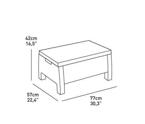 מערכת ישיבה קורפו סטורג' (כולל שולחן אחסון) - Corfu Storage Lounge Set אפור 248014 - תמונה 6