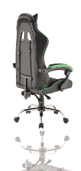 כסא גיימרים אורתופדי דגם PRO3 מבית NINJA EXTRIM שחור ירוק - תמונה 3