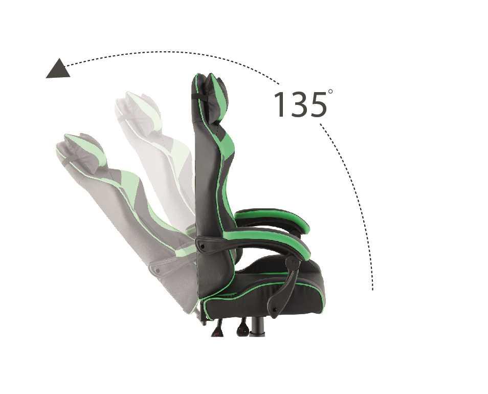 כסא גיימרים אורתופדי דגם PRO3 מבית NINJA EXTRIM שחור ירוק - תמונה 4