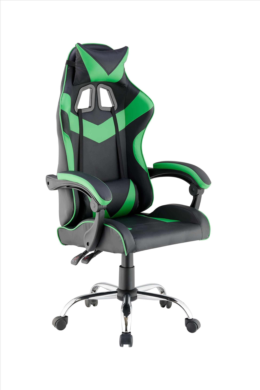 כסא גיימרים אורתופדי דגם PRO3 מבית NINJA EXTRIM שחור ירוק - תמונה 1