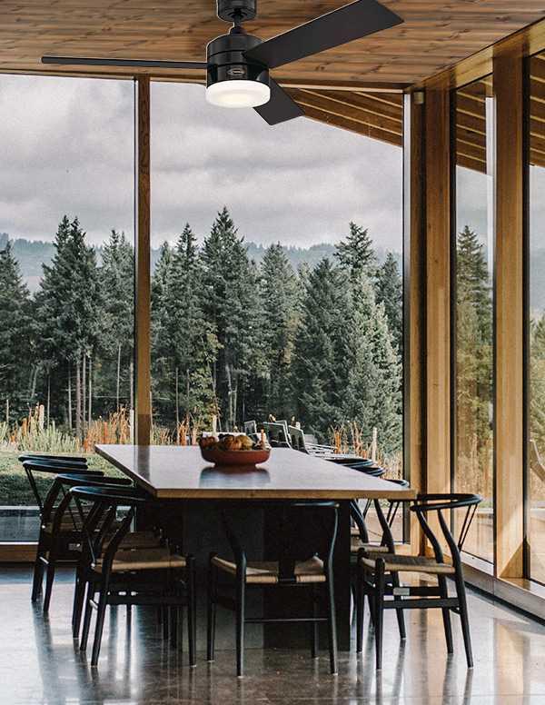 מאוורר תקרה Alta Vista שחור + עץ כהה/שחור 48