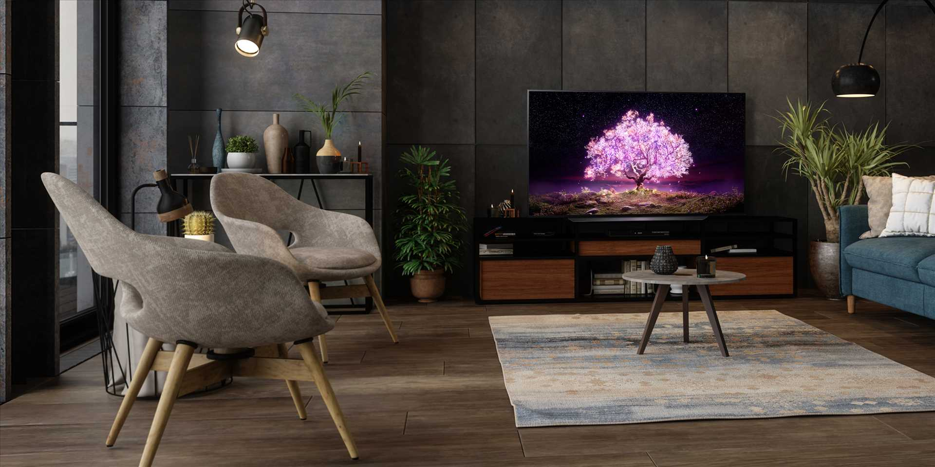 טלוויזיה 48 אינץ' דגם OLED 48C1PVB  בטכנולוגיית LG OLED 4K Ultra HD אל ג'י - תמונה 10