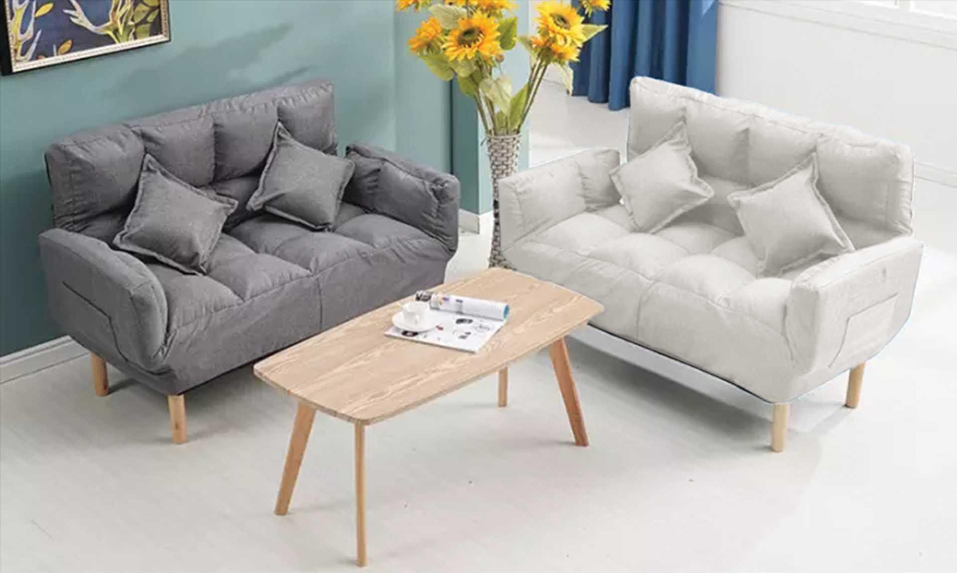 ספה זוגית דגם NEW BERRY צבע אפור מבית MY CASA - תמונה 1