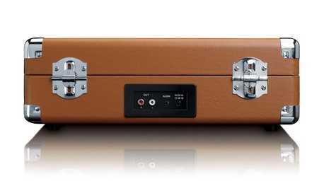 פטיפון LENCO מזוודה עם רמקולים מובנים דגם TT-10BN לנקו - תמונה 6