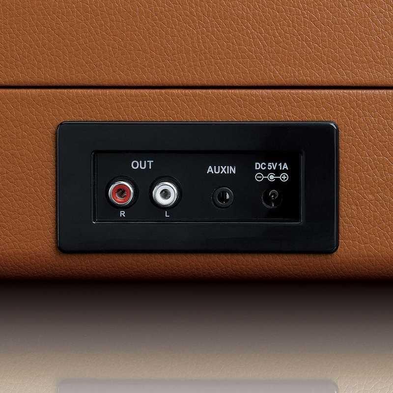 פטיפון LENCO מזוודה עם רמקולים מובנים דגם TT-10BN לנקו - תמונה 7