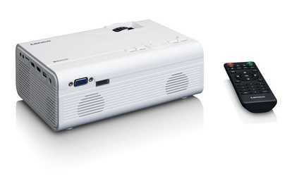 מקרן LCD קומפקטי LENCO דגם LPJ-300WH צבע לבן לנקו - תמונה 4