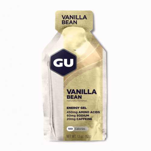 מארז 24 יחידות ג'ל האנרגיה הראשון בעולם GU בטעם וניל Gel Vanilla - תמונה 1