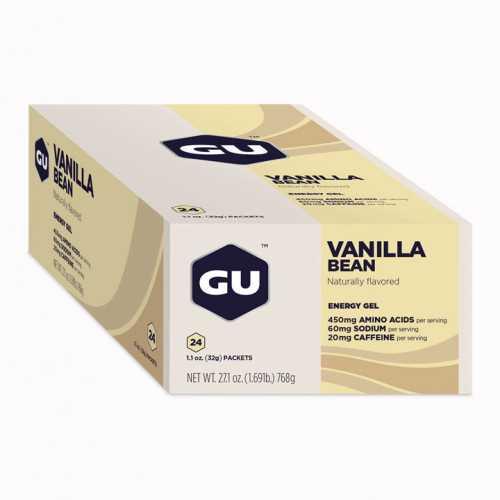 מארז 24 יחידות ג'ל האנרגיה הראשון בעולם GU בטעם וניל Gel Vanilla - תמונה 3