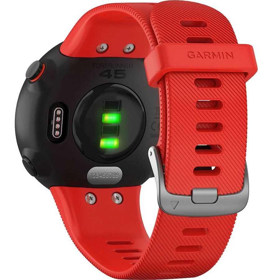שעון ספורט חכם Garmin דגם Forerunner 45 - אדום - תמונה 4