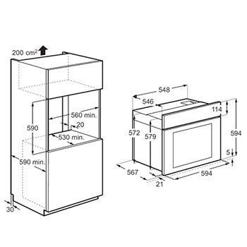 תנור אפיה בנוי נירוסטה Electrolux דגם EOB5450AAX - תמונה 2