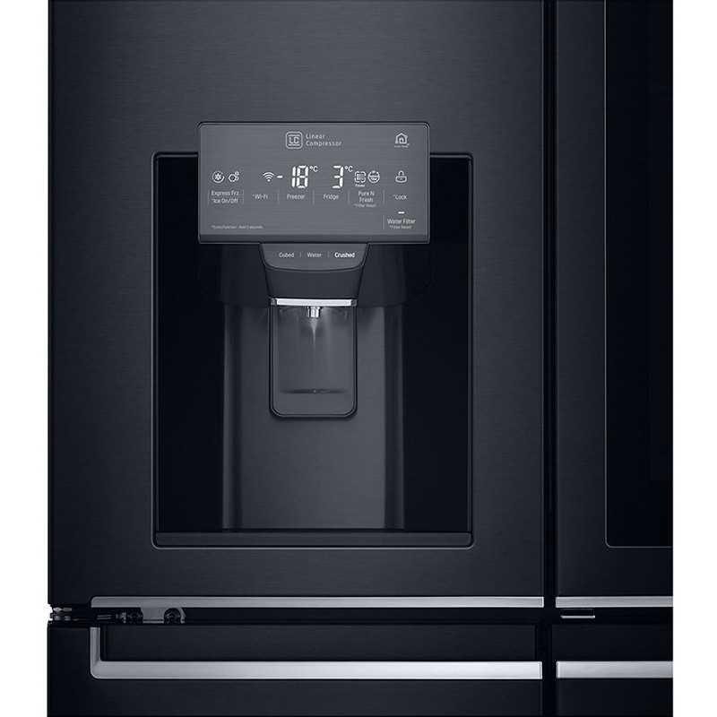 מקרר 4 דלתות 716 ליטר GR-X920INS שחור מט LG אל ג'י - תמונה 5