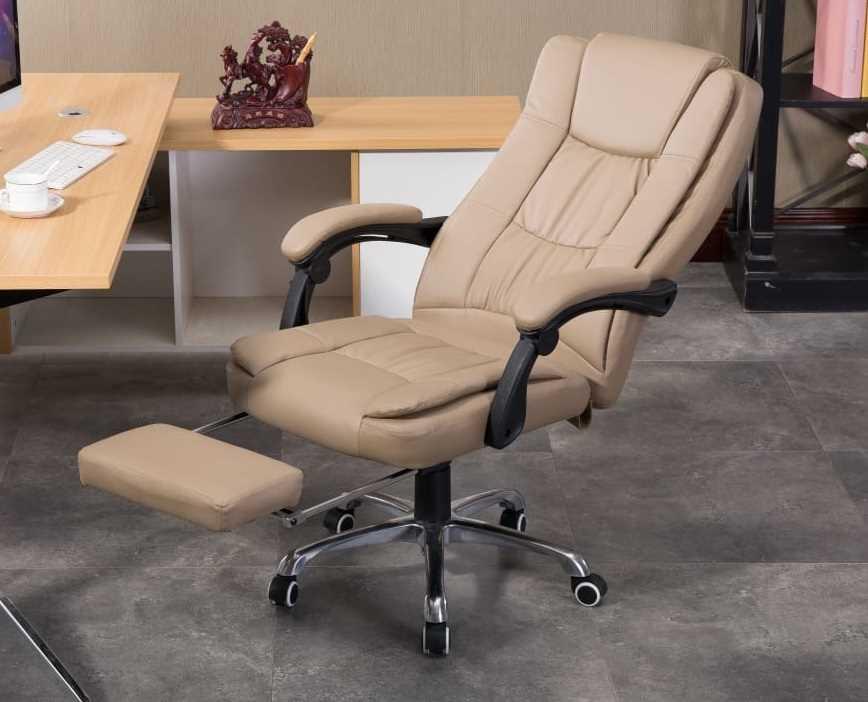 כסא מנהלים ארגונומי GREG כולל הדום נשלף צבע חאקי PRO TECH פרו-טק - תמונה 5