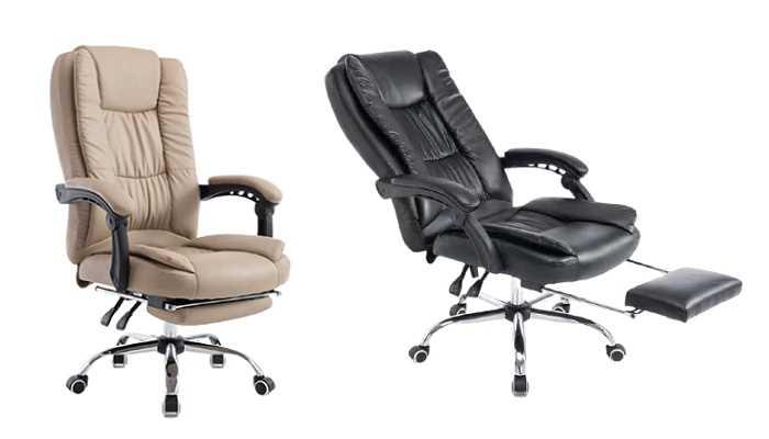 כסא מנהלים ארגונומי GREG כולל הדום נשלף צבע שחור PRO TECH פרו-טק - תמונה 4