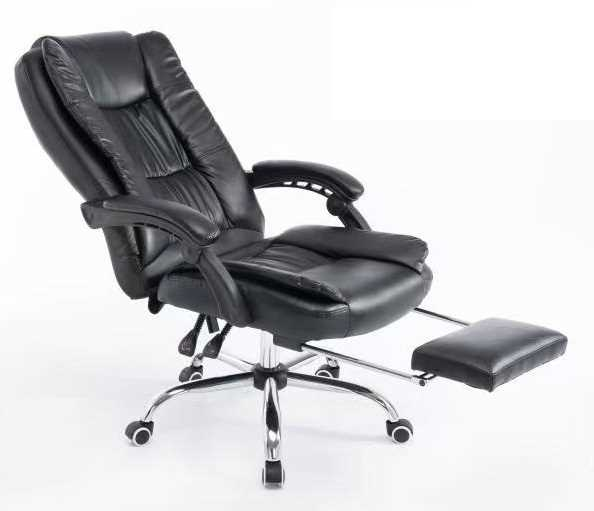 כסא מנהלים ארגונומי GREG כולל הדום נשלף צבע שחור PRO TECH פרו-טק - תמונה 1
