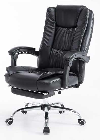 כסא מנהלים ארגונומי GREG כולל הדום נשלף צבע שחור PRO TECH פרו-טק - תמונה 3