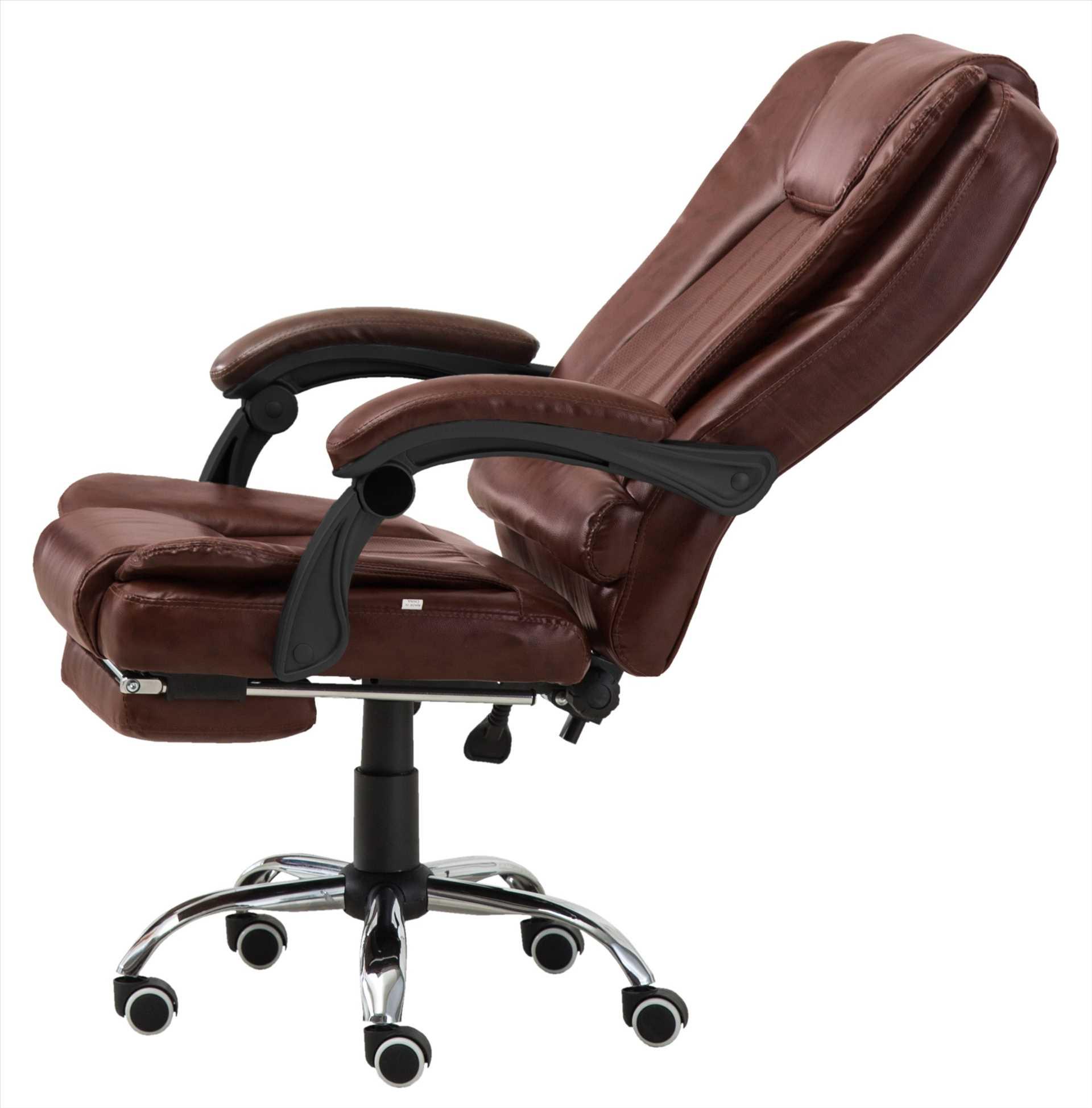 כיסא מנהלים משרדי דגם BOSS כולל הדום נשלף צבע בורגונדי PRO TECH פרו-טק - תמונה 3