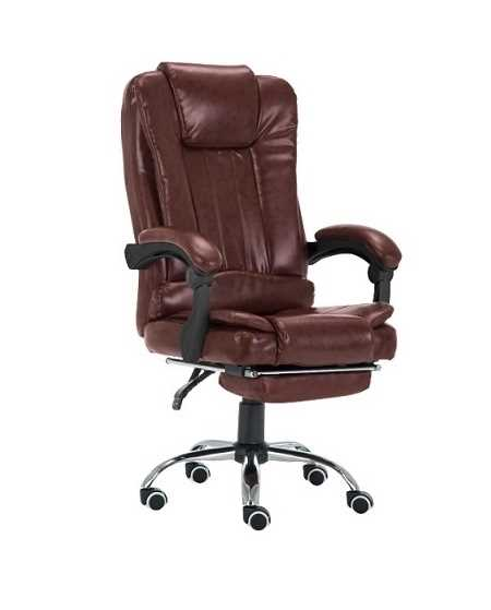 כיסא מנהלים משרדי דגם BOSS כולל הדום נשלף צבע בורגונדי PRO TECH פרו-טק - תמונה 1