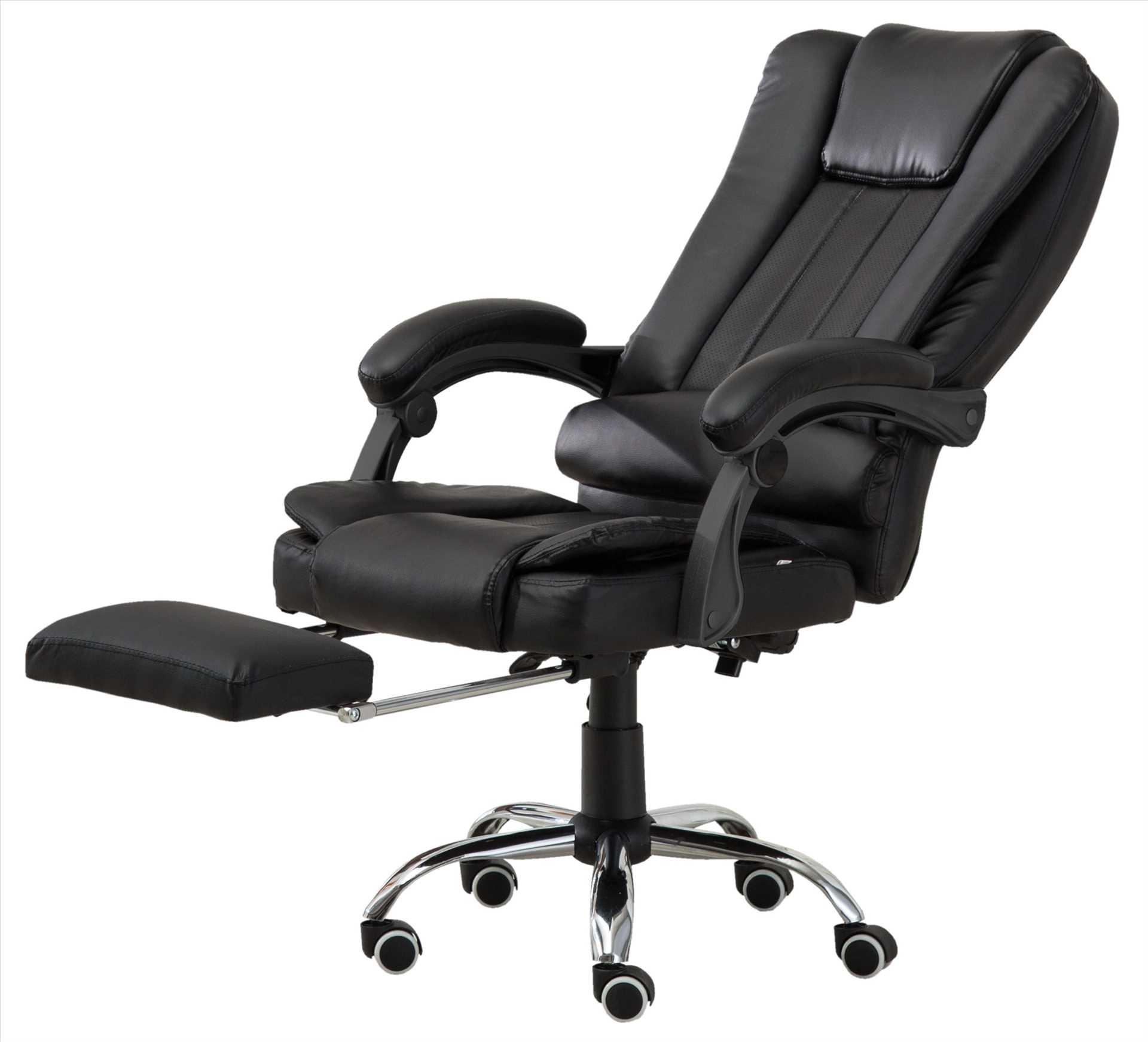 כיסא מנהלים משרדי דגם BOSS כולל הדום נשלף צבע שחור PRO TECH פרו-טק - תמונה 2