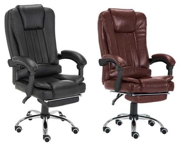 כיסא מנהלים משרדי דגם BOSS כולל הדום נשלף צבע שחור PRO TECH פרו-טק - תמונה 3