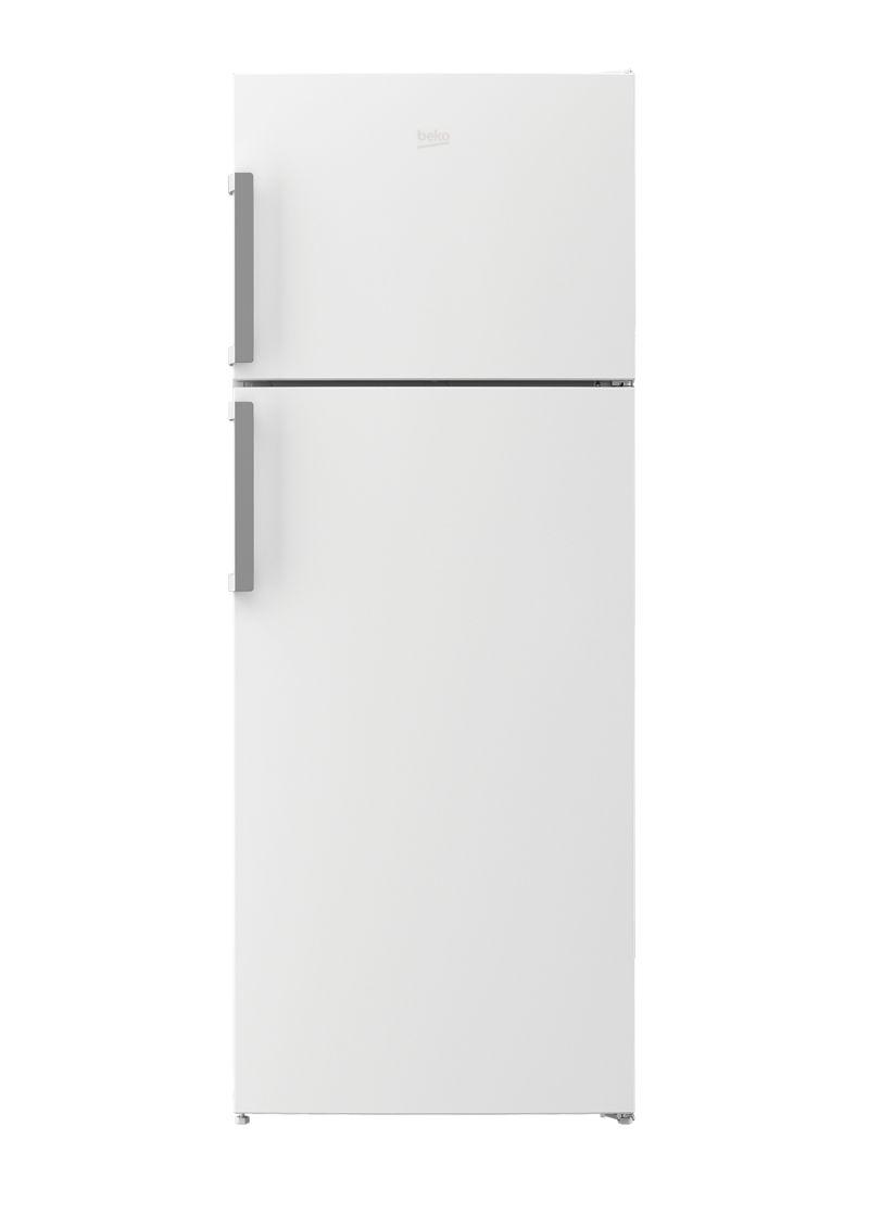 מקרר BEKO מקפיא עליון דגם RDNE455K01W לבן