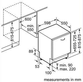 מדיח כלים רחב אינטגרלי SMV45MX00E Bosch - תמונה 2
